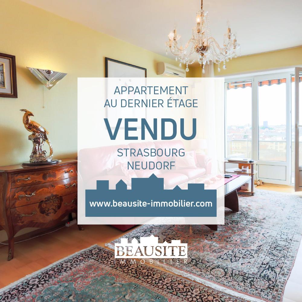 [Zénith] Spacieux 2 pièces au dernier étage - Neudorf / près de l'Avenue Jean Jaurès - nos ventes - Beausite Immobilier 1