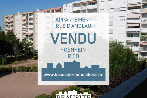 [Mario] Un spacieux 4 pièces avec balcon et parking - Hoenheim