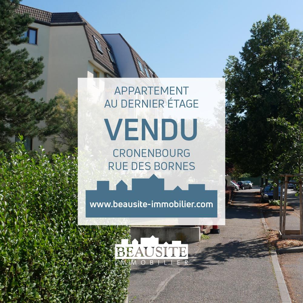 [Vedette] Un appartement charmant au vert - Cronenbourg/ Rue de Bornes - nos ventes - Beausite Immobilier 1