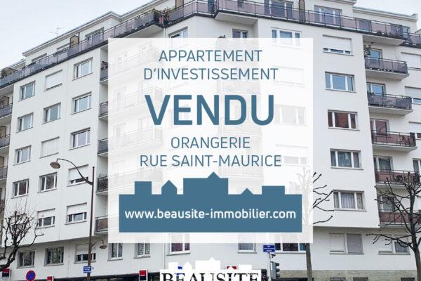 [Emilie] Une studette pour un investissement pérenne - Orangerie / rue Saint-Maurice