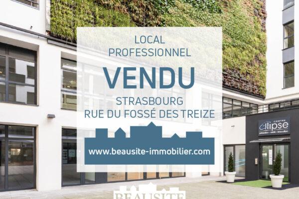 VENDU [13] Remarquable local commercial au centre-ville de Strasbourg
