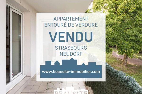VENDU [Magnolia] Grand 2 pièces dans un écrin de verdure - Neudorf / rue Sainte-Cécile