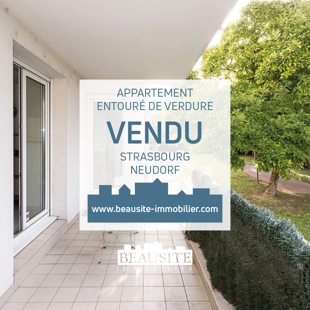 VENDU [Magnolia] Grand 2 pièces dans un écrin de verdure - Neudorf / rue Sainte-Cécile - nos ventes - Beausite Immobilier 1