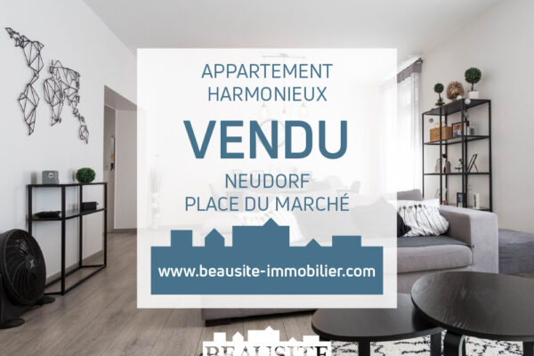 VENDU [Louise] Beau et spacieux appartement 3 pièces - Neudorf / rue de Mulhouse