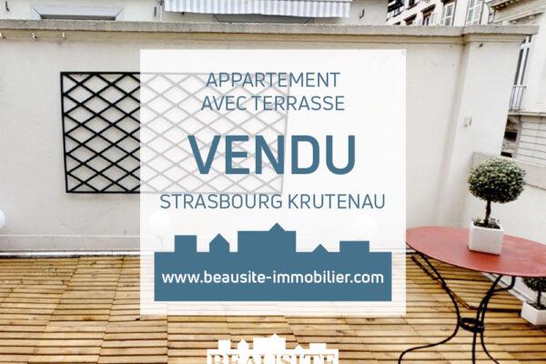 VENDU Magnifique 2/3P avec terrasse à la Krutenau