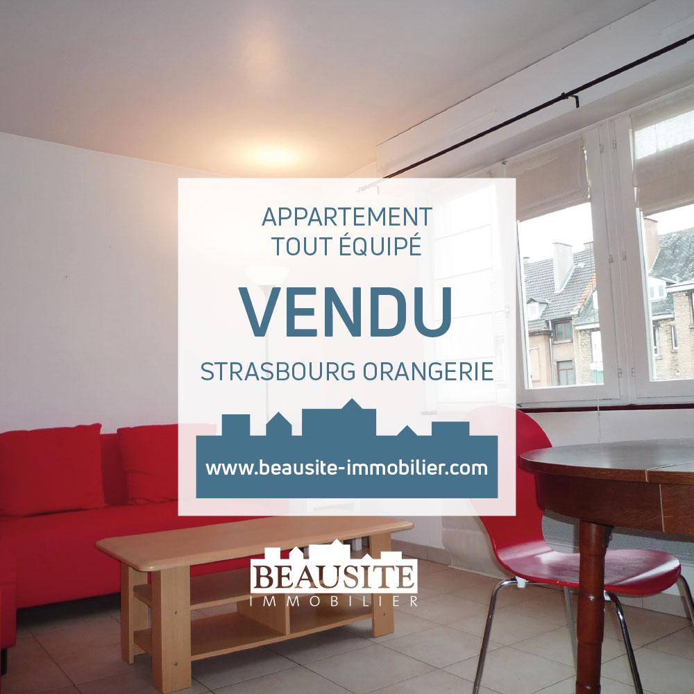 VENDU Charmant 2P - Orangerie / rue Geiler - nos ventes - Beausite Immobilier 1