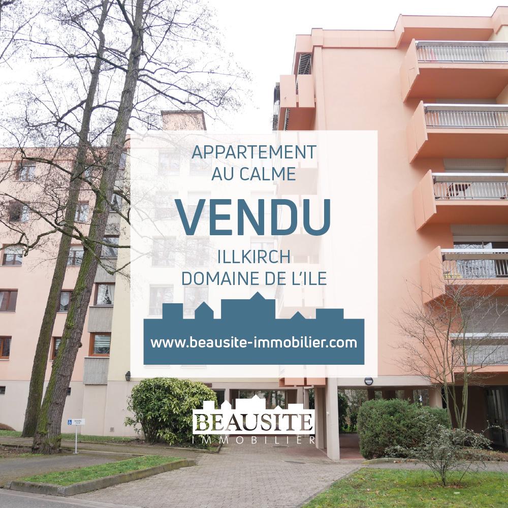 VENDU - Charmant 2 pièces avec balcon - Illkirch / Domaine de l'Île - nos ventes - Beausite Immobilier 1