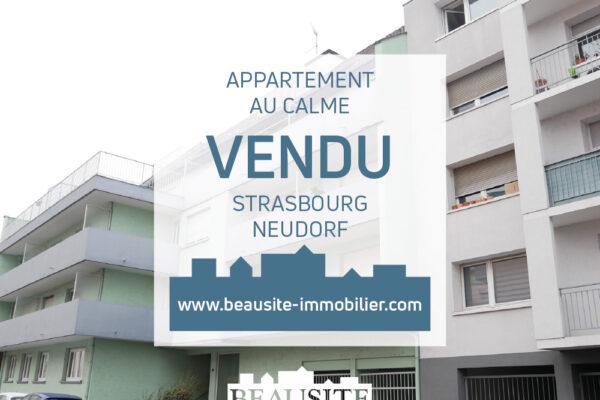 VENDU - Charmant 2 pièces avec balcon et parking en sous-sol - Strasbourg / Neudorf Est