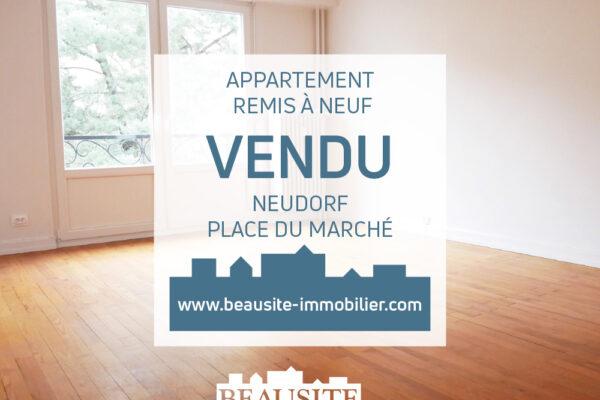 VENDU - Lumineux appartement 3 pièces avec balcon - Strasbourg / Neudorf