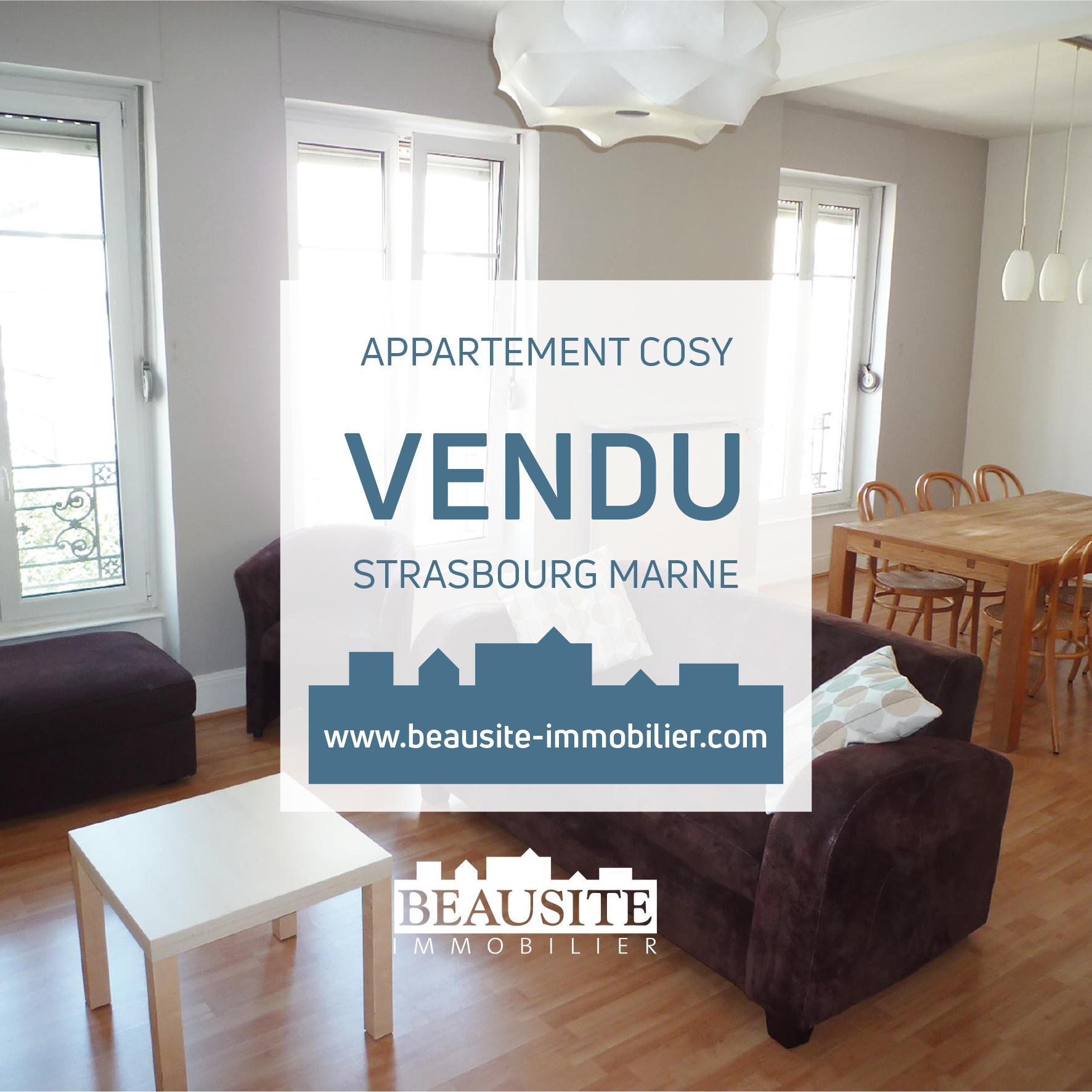 VENDU Superbe 2/3P - Strasbourg Observatoire - nos ventes - Beausite Immobilier 1
