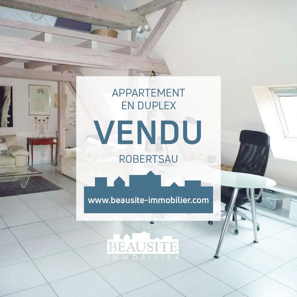 VENDU Charmant 2P en duplex - Robertsau Maraîchers - nos ventes - Beausite Immobilier 1