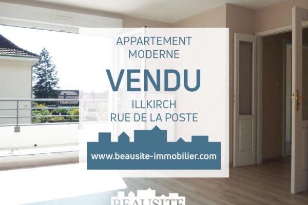 Lumineux 3 pièces avec deux terrasses et garage - Illkirch centre / rue de la Poste