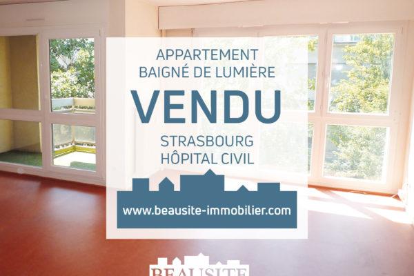 VENDU Charmant 2/3P - Strasbourg Hôpital Civil