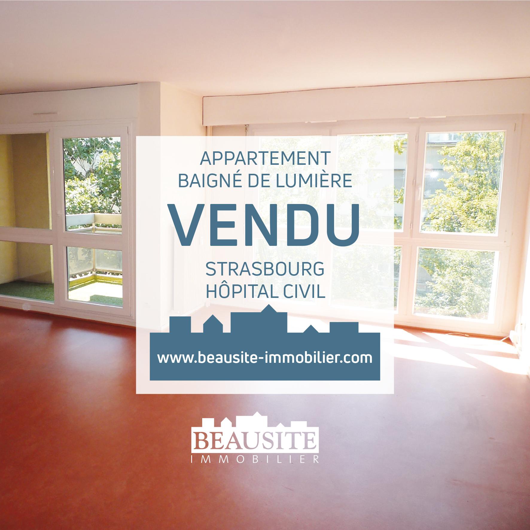 VENDU Charmant 2/3P - Strasbourg Hôpital Civil - nos ventes - Beausite Immobilier 1