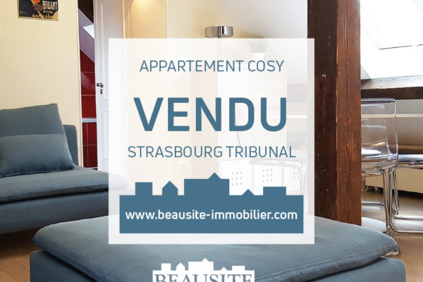 VENDU - Charmant 3P - Strasbourg Tribunal