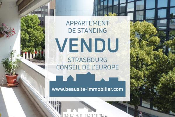 VENDU Luxueux 5P - Orangerie Conseil de l'Europe