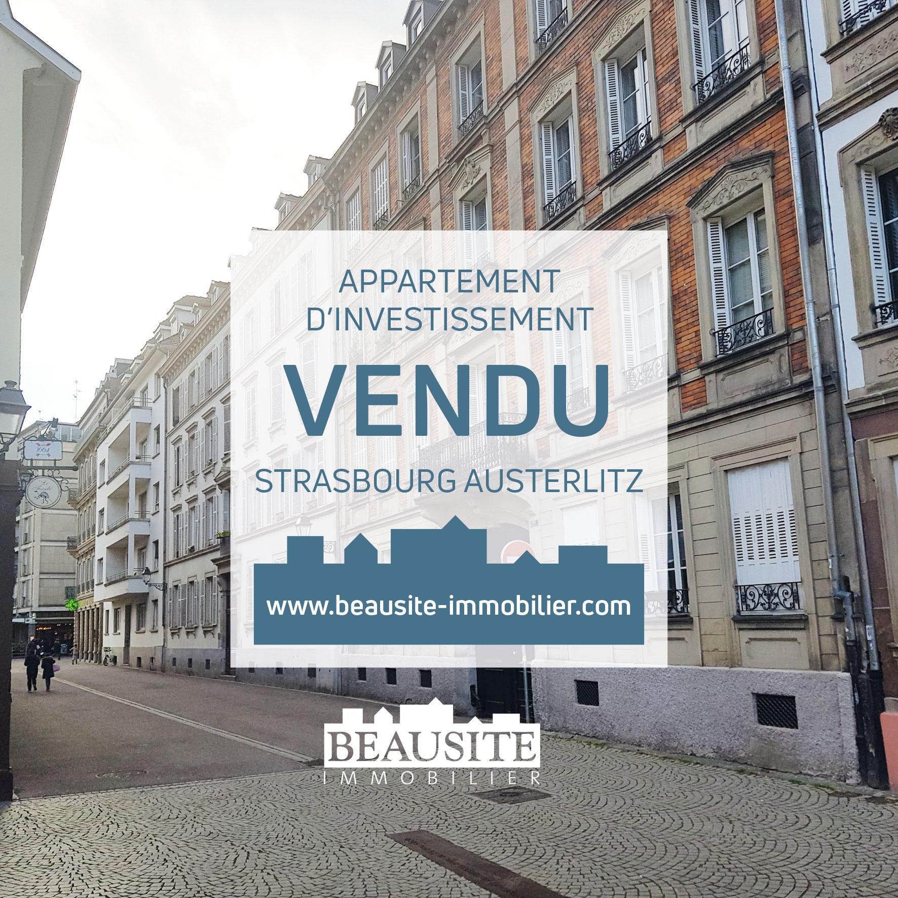 VENDU ! Charmant 2P - Strasbourg Austerlitz - nos ventes - Beausite Immobilier 1