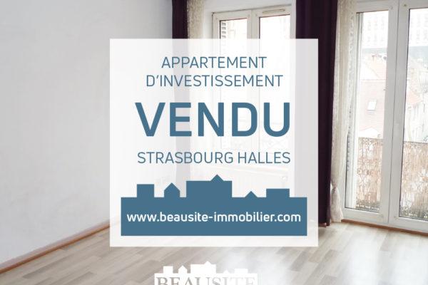 VENDU 2P avec balcon - Halles/rue du Faubourg de Saverne
