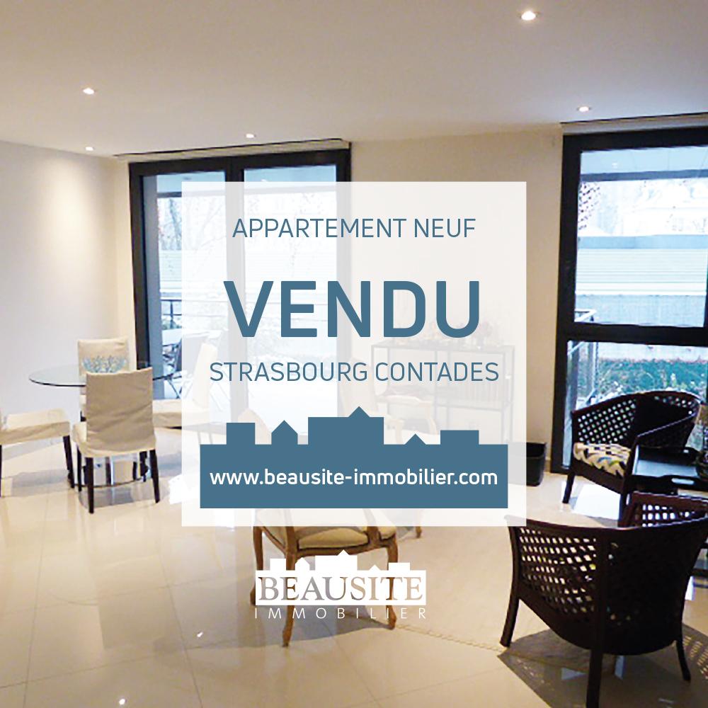 VENDU - Splendide 3P neuf - Strasbourg Contades - nos ventes - Beausite Immobilier 1