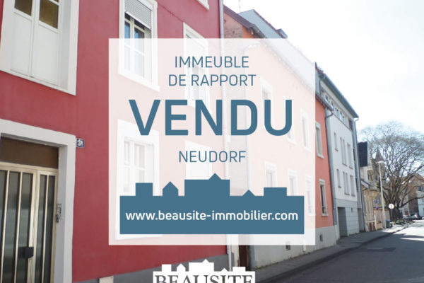 Vendu ! Immeuble de rapport - début Neudorf.