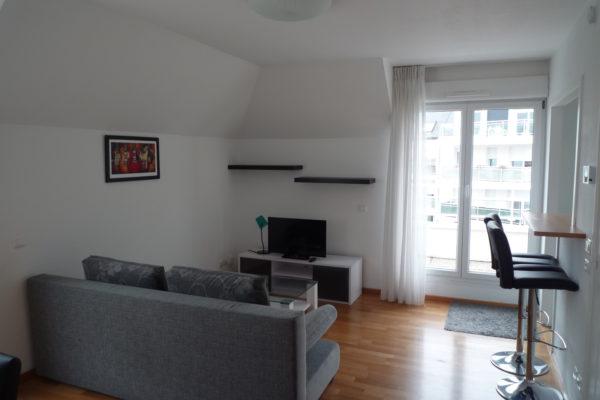 Lumineux 2P meublé – Orangerie / rue André Jung