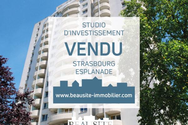 VENDU - Lumineux studio avec balcon - Strasbourg Esplanade