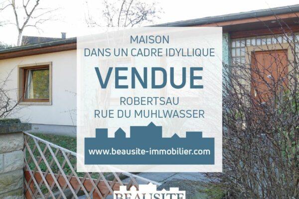 [Robbie] Spacieuse maison de plain-pied - Robertsau / rue du Muhlwasser